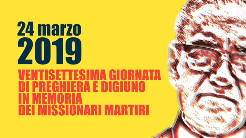 NEwS GIORNATA MISSIONARI MARTIRI 2019